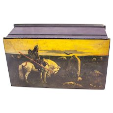 Vintage Russian lacquered hand painted Box