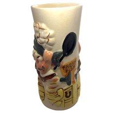Vintage Trader Vic's Ceramic Mai Tai Tiki Mug Fresh Fish Scene