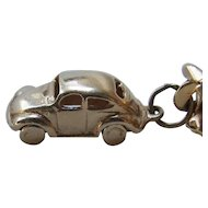 Vintage 1930's style Car Charm 14k