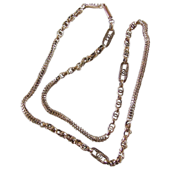Intricate 9k Early Victorian Necklace Chain