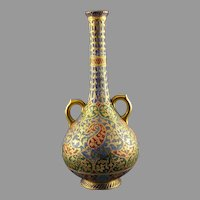 "Royal Bonn Germany ""Kashmir"" Design Tapestry Vase (c. 1890's)"