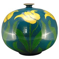 "Royal Bonn Germany ""Old Dutch"" Tulip Design Vase (c.1890-1923)."