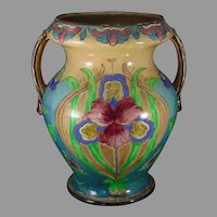 "Royal Bonn Germany ""Old Dutch"" Iris Design Vase (c.1890-1923)"
