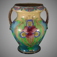 "Royal Bonn Germany ""Old Dutch"" Iris Design Vase (c.1890-1923)"