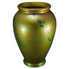 Zsolnay Hungary Eosin Green Marbleized Vase (c.1920-1940)