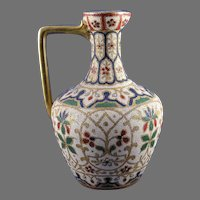 "Royal Bonn ""Jaypora"" Design Tapestry Pitcher/Ewer (c. 1890's)"