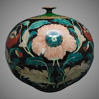 "Royal Bonn Germany Poppy Design ""Liberty"" Vase (c.1890-1923)"