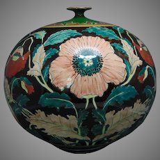 "Royal Bonn Germany Poppy Design ""Liberty"" Vase (c.1890-1923)"