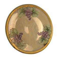"Hutschenreuther Selb Bavaria Lustre Grape Plate (Signed ""Gammon""/c.1910-1940)"