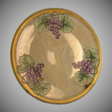 "Hutschenreuther Selb Bavaria Lustre Grape Plate (Signed ""Gammon""/c.1910-1940)"