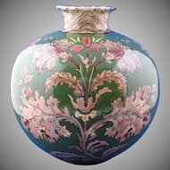 "Royal Bonn Germany Art Nouveau ""Old Dutch"" Vase Pair (c.1890-1923)"