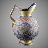 """Royal Bonn Islamic Motif  """"Kashmir"""" Tapestry Pitcher/Ewer (c. 1890's)"""