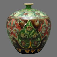 "Royal Bonn Germany ""Old Dutch"" Floral Design Vase (c.1890-1923)"