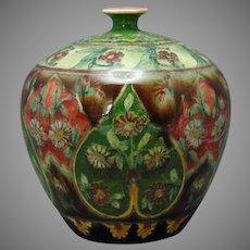"""Royal Bonn Germany """"Old Dutch"""" Floral Design Vase (c.1890-1923)"""
