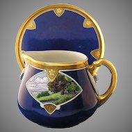 WG&Co. Limoges Scenic Motif Pitcher & Tray (c.1900-1932)