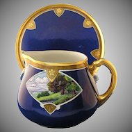 William Guerin (WG&Co.) Limoges Scenic Motif Pitcher & Tray (c.1900-1932)