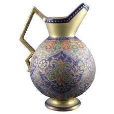 "Royal Bonn Islamic ""Kashmir"" Design Tapestry Pitcher/Ewer (c. 1890's)"