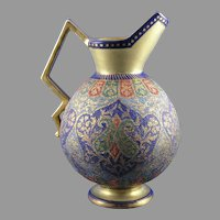 "Royal Bonn ""Kashmir"" Design Tapestry Pitcher/Ewer (c. 1890's)"