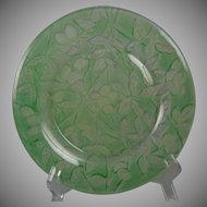 "Consolidated Glass Martele ""Olive"" Design Green Wash Plate (c.1920's)"