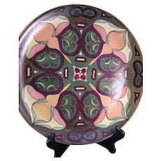 """Hutschenreuther Selb Bavaria Abstract Design Charger/Plate (Signed """"A.M.T""""/c.1920-1940)"""