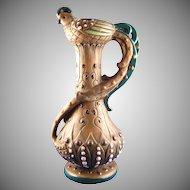 Amphora Austria Arts & Crafts Pheasant Motif Pitcher/Vase (c.1900-1910)