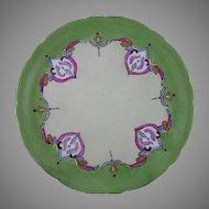 JP Limoges Persian Motif Plate (c.1899-1932) - Keramic Studio Design