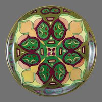 "Hutschenreuther Selb Bavaria Arts & Crafts Charger/Plate (Signed ""A.M.T.""/c.1920-1940)"
