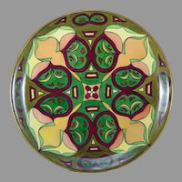 """Hutschenreuther Selb Bavaria Arts & Crafts Charger/Plate (Signed """"A.M.T.""""/c.1920-1940)"""