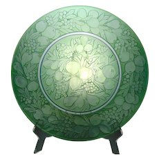 Large Consolidated Glass Green Wash Five-Fruits Charger/Plate (c.1920's)