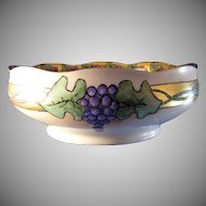 "Hermann Ohme Silesia Grape Motif Bowl (Signed ""E.B.""/Dated 1913)"