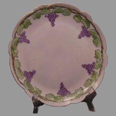 Paroutaud Freres (P&P) La Seynie Limoges Grape Design Plate (c.1910-1930's)