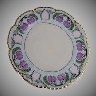 """Haviland Limoges Plum Motif Plate (Signed """"I. Lang""""/c.1893-1930)"""