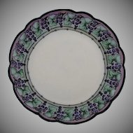 Rosenthal Bavaria Grape Motif Plate (c.1906-1930) - Keramic Studio Design