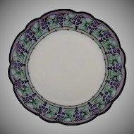 Rosenthal Bavaria Grape Motif Plate (c.1906-1930) - Keramic Studio Design