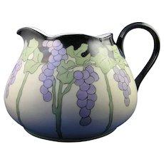 """Limoges 'Mark 6' Grape Motif Cider/Lemonade Pitcher (Signed """"BMP""""/Dated 1920) - Keramic Studio Design"""