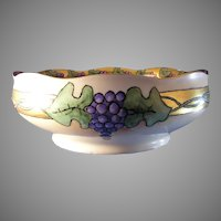 "Hermann Ohme Silesia Grape Design Bowl (Signed ""EB""/Dated 1913)"