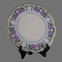 "Haviland Limoges Plum Design Plate (Signed ""I. Lang""/c.1910-1930)"