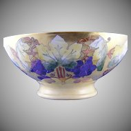 Plainemaison Limoges Grape Lustre Motif Centerpiece/Punch Bowl (c.1890-1930)