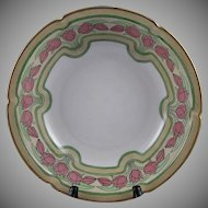 "Pfeiffer & Lowenstein (P&L) Austria Tulip Motif Bowl (Signed ""Bessie M. Lindsey""/Dated 1909)"