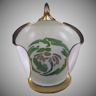 T&V Limoges Daisy Design Handled Serving Dish (Signed/c.1913-1930) - Keramic Studio Design