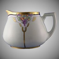 "Zeh Scherzer Bavaria Fruit Motif Pitcher (Signed ""L.G. Reid""/Dated 1924)"