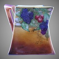 "B&Co. Limoges Fruit Motif Pitcher (Signed ""N. Spera""/c.1900-1914)"