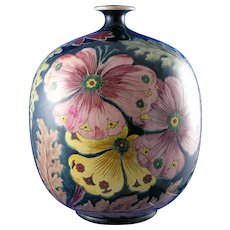 "Royal Bonn Germany ""Old Dutch"" Pansy Design Vase (c.1890-1923)"