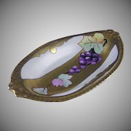 "White's Studio Chicago Grape Motif Tray (Signed ""Ben.""/c.1900-1930)"