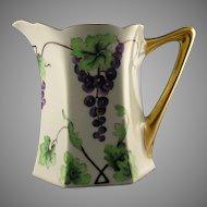 Hutschenreuther Favorite Bavaria Grape Motif Pitcher (c.1900-1930)