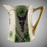 Hutschenreuther Favorite Bavaria Grape Motif Pitcher (c.1900-1930)