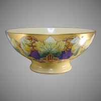 PL Limoges Grape Lustre Design Centerpiece/Punch Bowl (c.1910-1930)