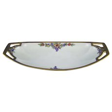 """RS Germany Fruit Motif Handled Dish/Tray (Signed """"Florence Stogsdill""""/c.1904-1938)"""