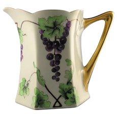 Hutschenreuther Favorite Bavaria Grape Design Pitcher (c.1900-1930)
