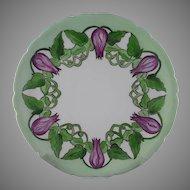 JP Limoges Floral & Vine Motif Plate (c.1890-1932)